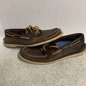 Mens Sperry Top-Sider Leather Brown Size: 9.5
